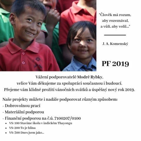 PF Nadačního fondu Modrá rybka 2019